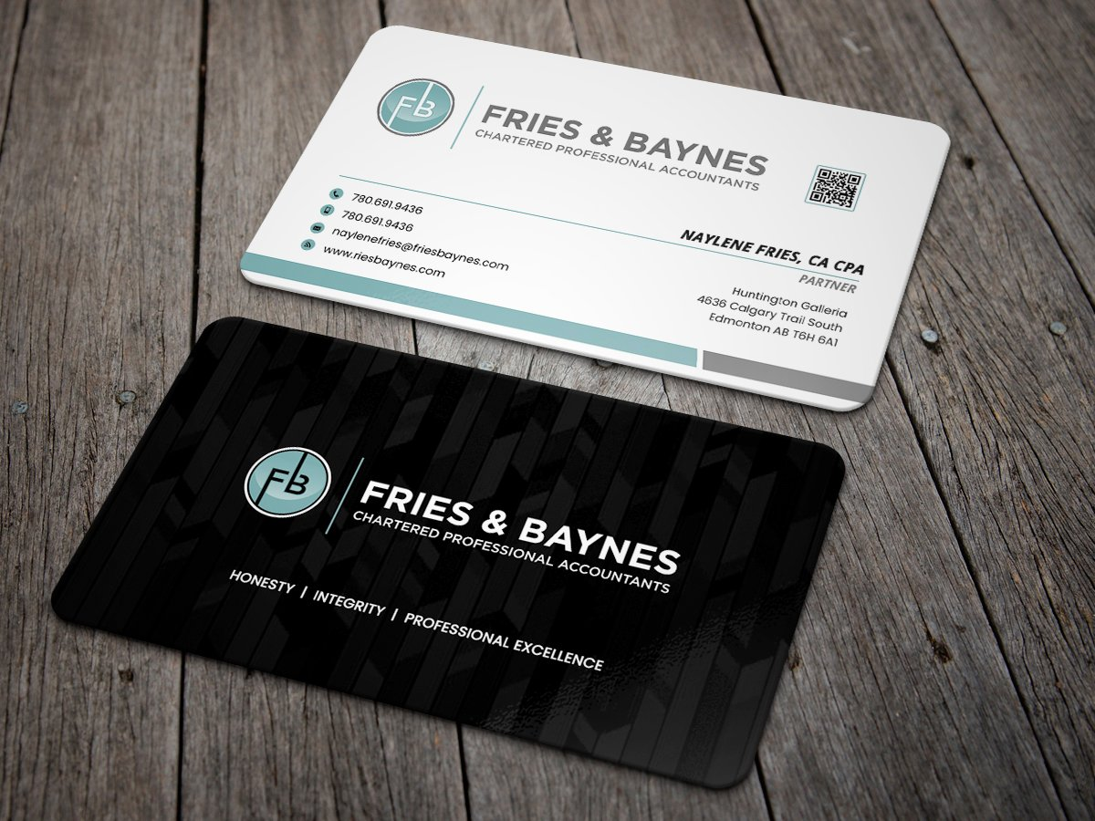 Fries & Baynes Chartered Professional Accountants logo design by Masters Designs