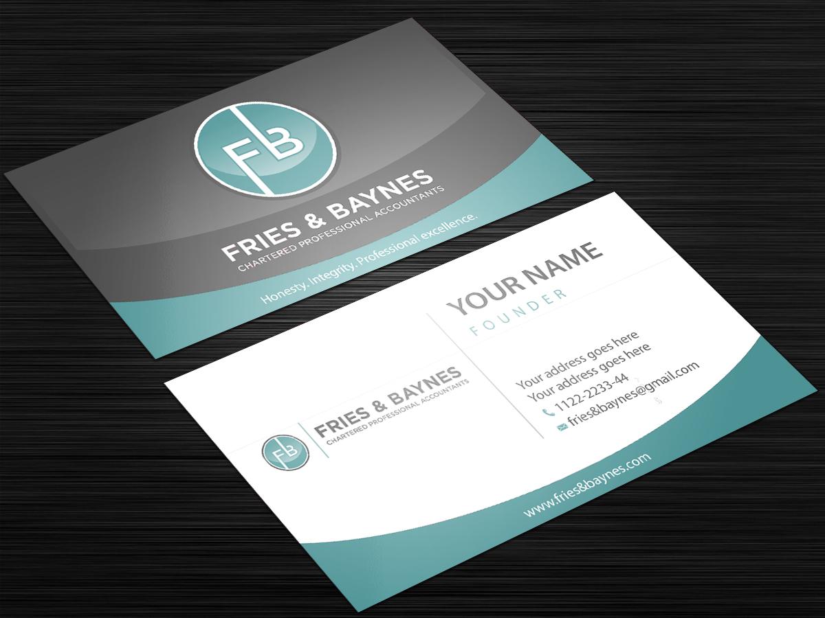 Fries & Baynes Chartered Professional Accountants logo design by Sofi