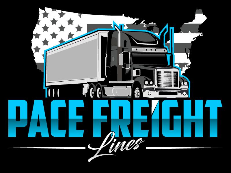 Pace Freight Lines logo design by ElonStark