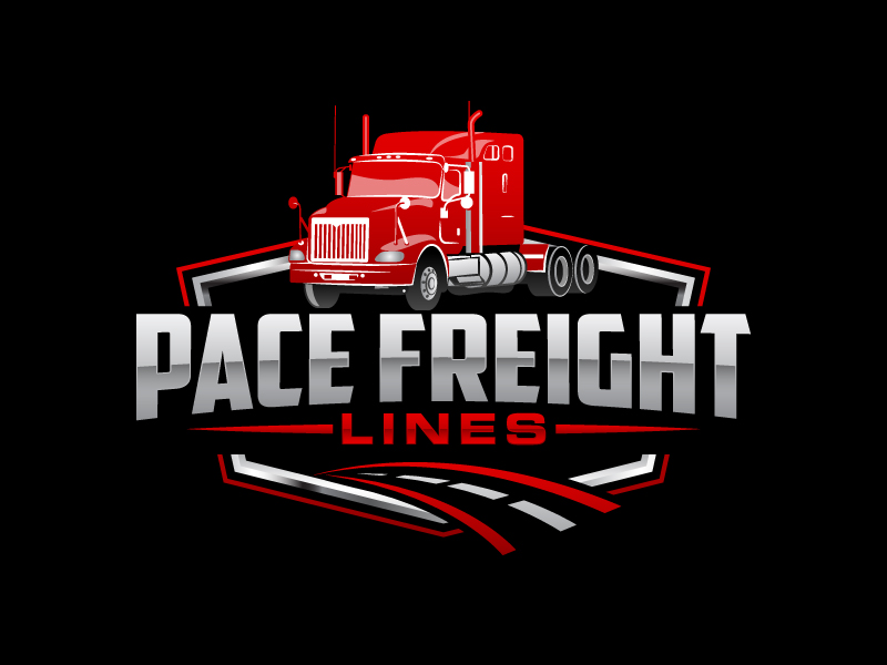 Pace Freight Lines logo design by Kirito