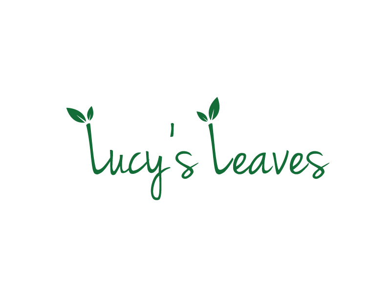 Lucy's Leaves logo design by my!dea