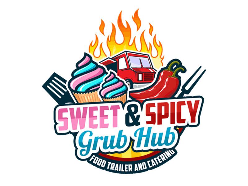 sweet & spicy grub hub logo design by Bananalicious