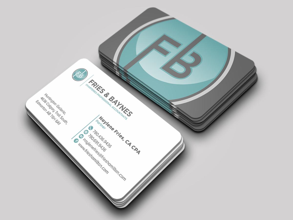 Fries & Baynes Chartered Professional Accountants logo design by Thuwan Aslam Haris