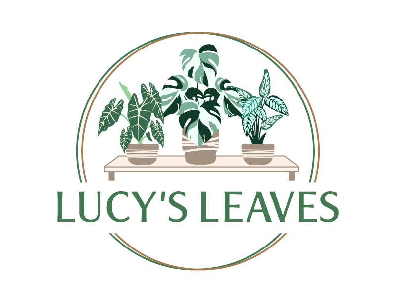 Lucy's Leaves logo design by jaize