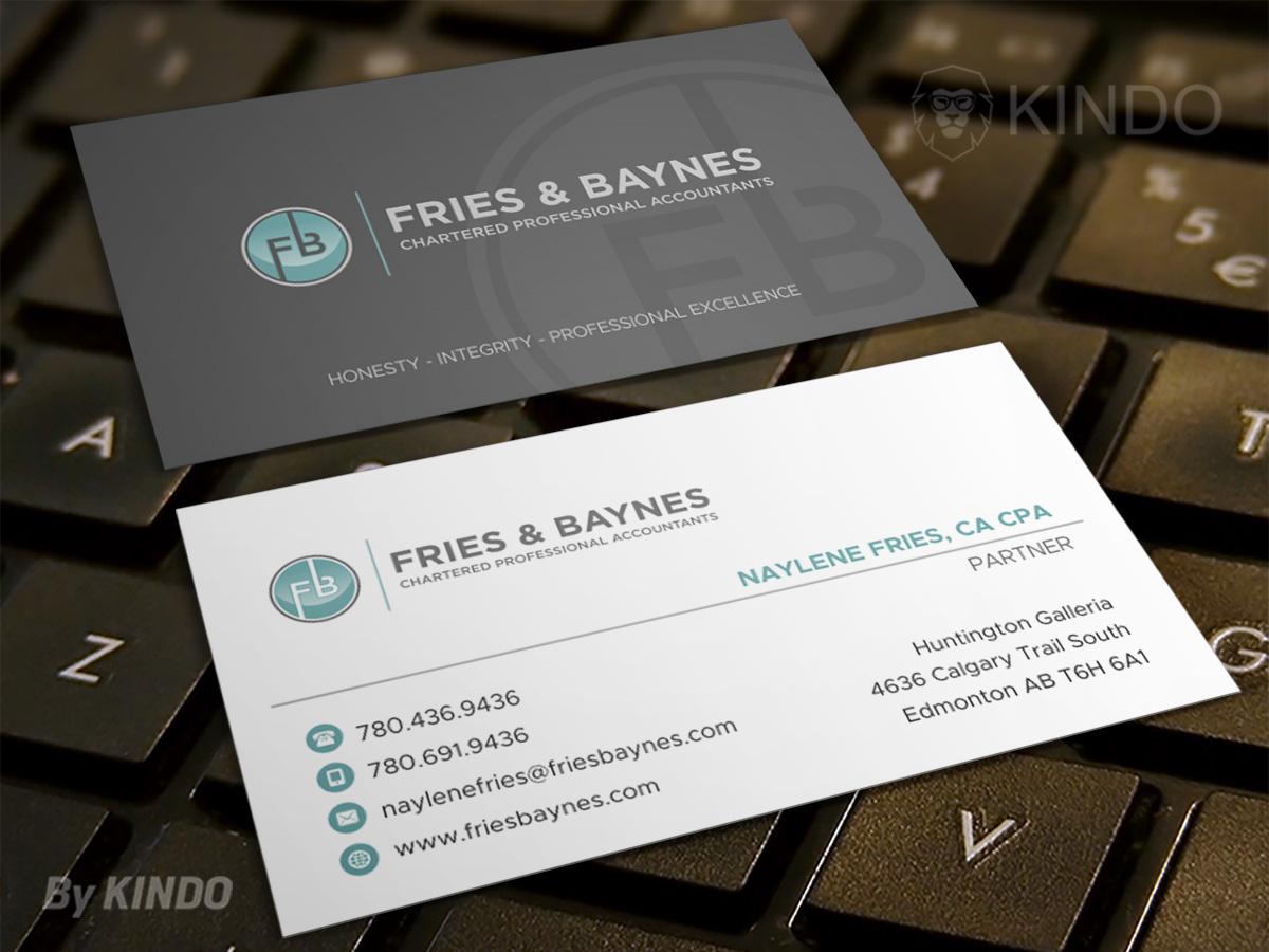 Fries & Baynes Chartered Professional Accountants logo design by Kindo