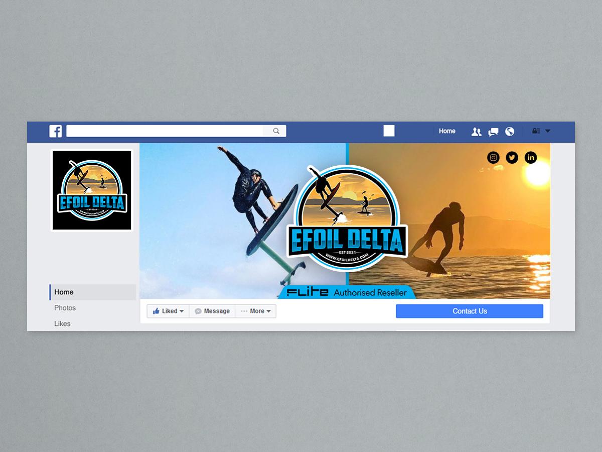 Efoil Delta logo design by yondi