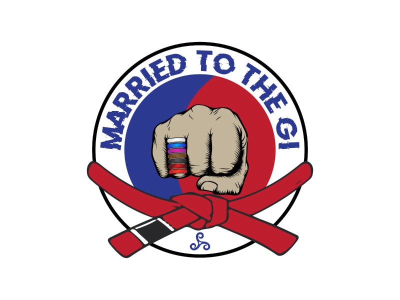 """""""Married to The Gi"""" , but if aesthetically that doesn't work I completely understand. logo design by nona"""