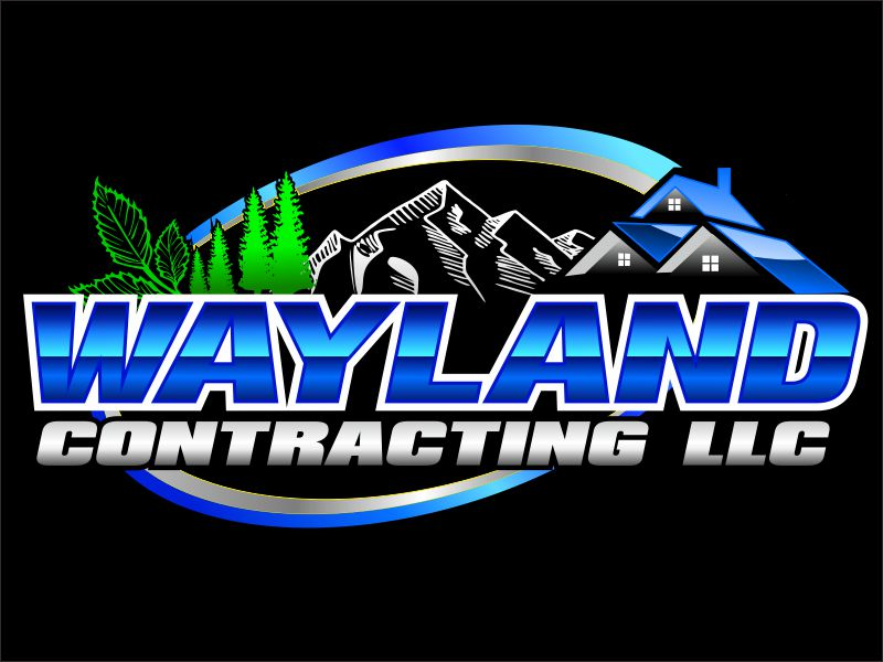 Wayland Contracting LLC logo design by bosbejo