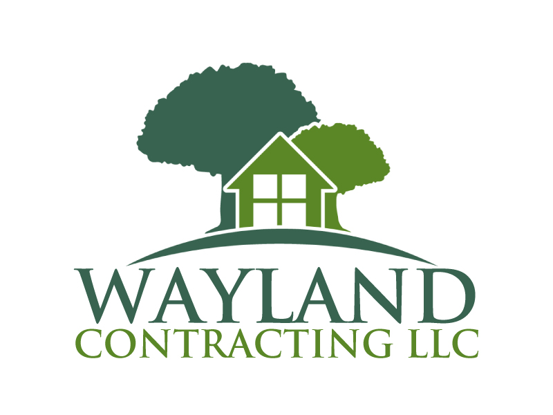 Wayland Contracting LLC logo design by ElonStark