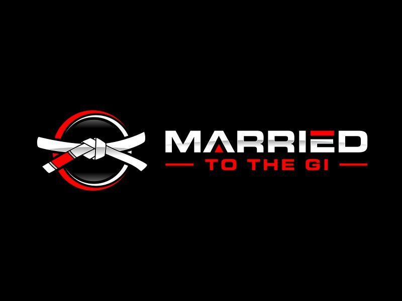 """""""Married to The Gi"""" , but if aesthetically that doesn't work I completely understand. logo design by Kopiireng"""