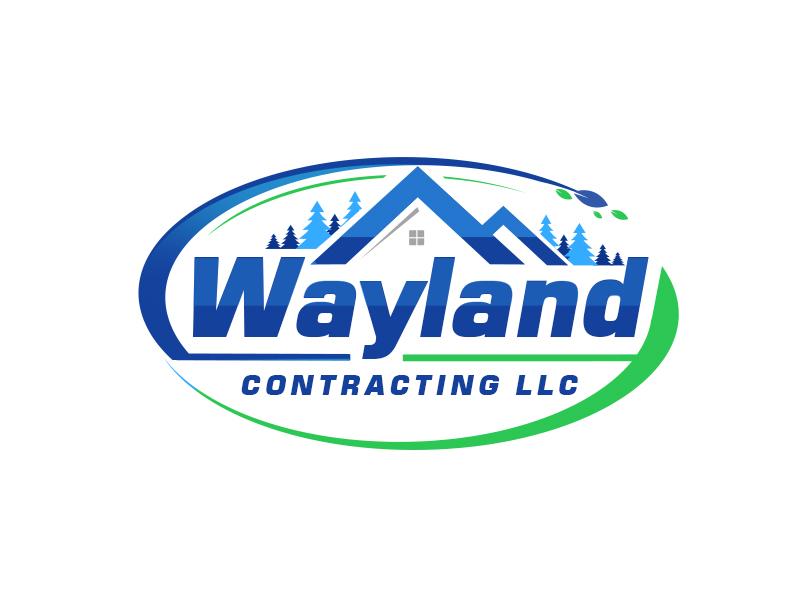 Wayland Contracting LLC logo design by Vickyjames