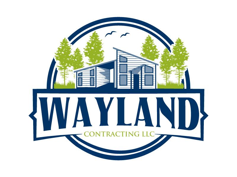 Wayland Contracting LLC logo design by karjen