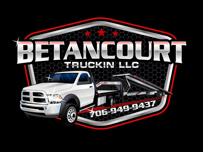 Betancourt Truckin LLC logo design by rizuki