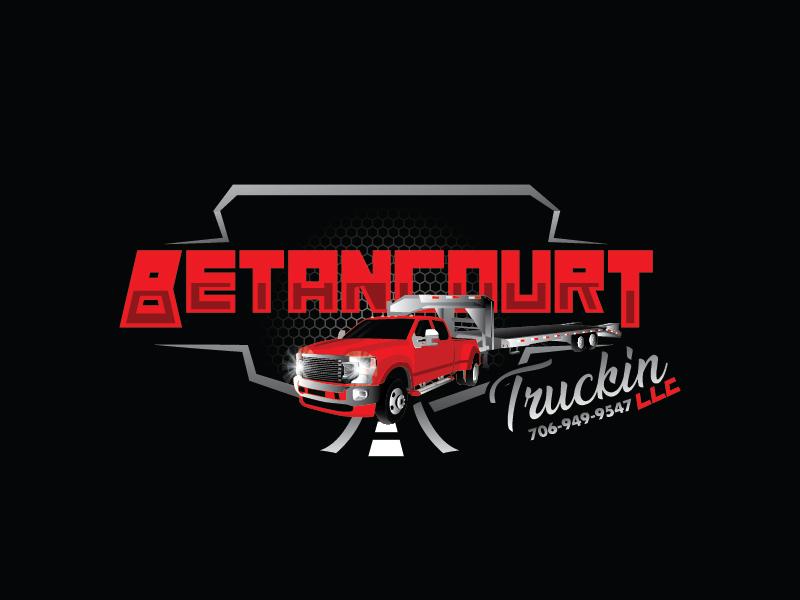 Betancourt Truckin LLC logo design by Shailesh