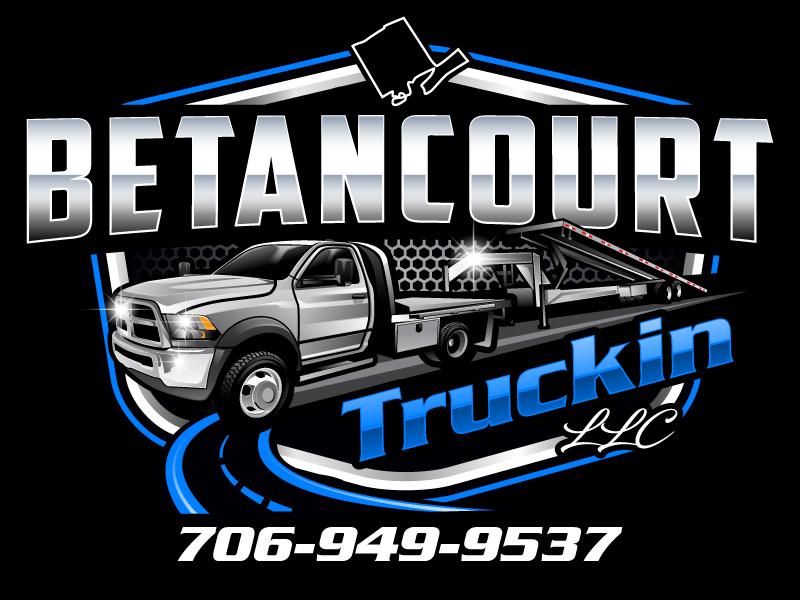 Betancourt Truckin LLC logo design by Suvendu