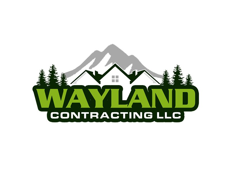 Wayland Contracting LLC logo design by kunejo
