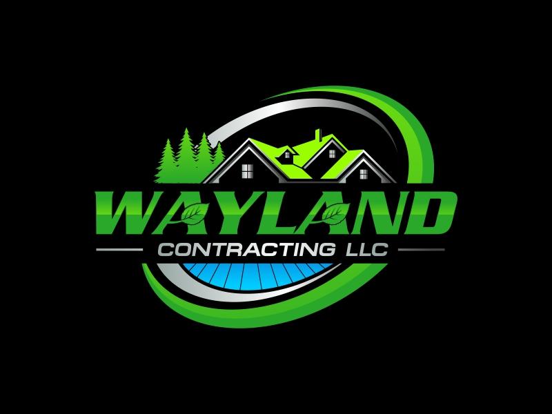 Wayland Contracting LLC logo design by rizuki