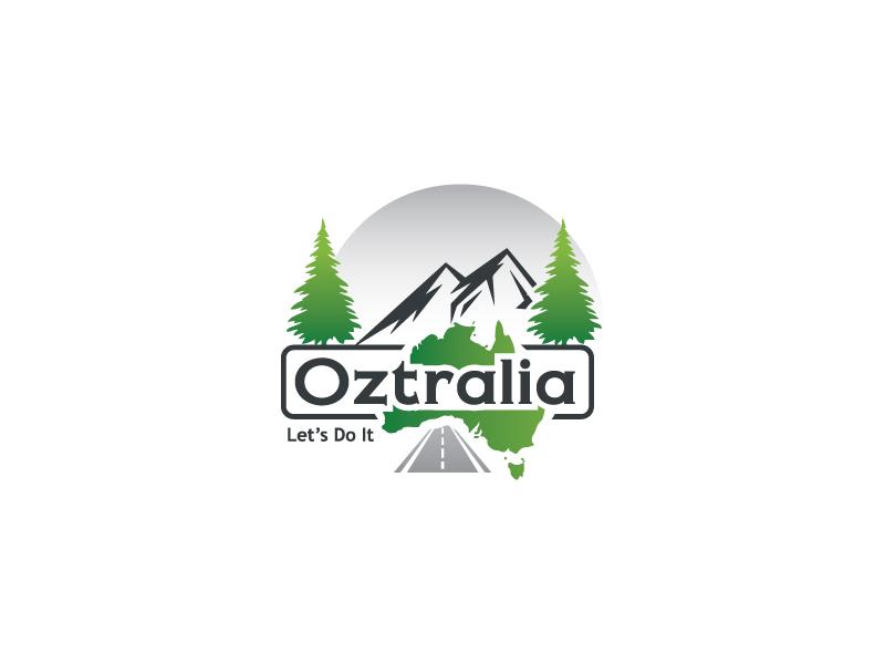 Oztralia Let's Do It logo design by Webphixo