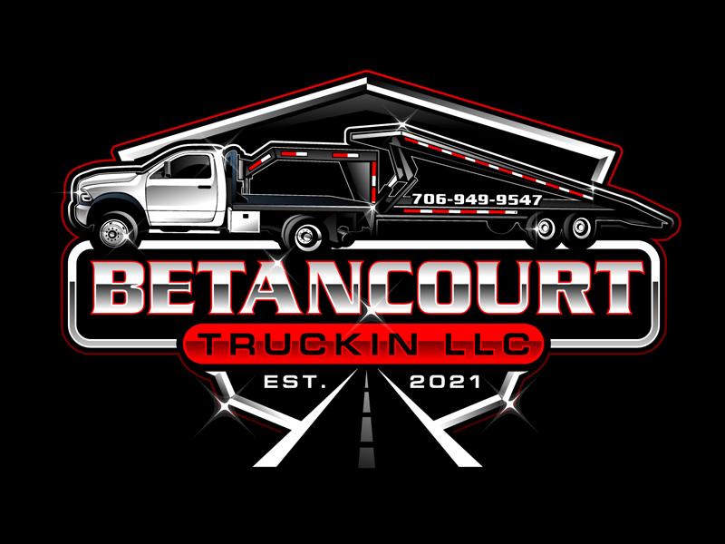Betancourt Truckin LLC logo design by DreamLogoDesign