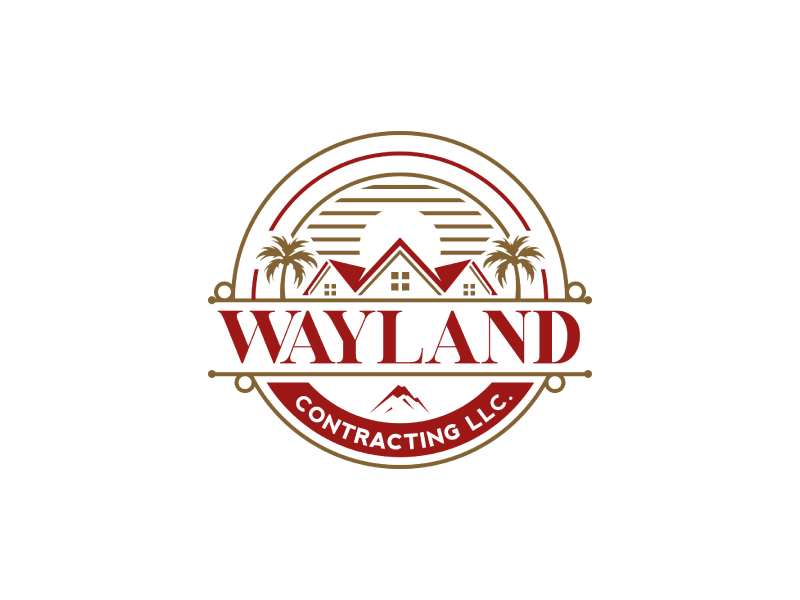 Wayland Contracting LLC logo design by Erasedink