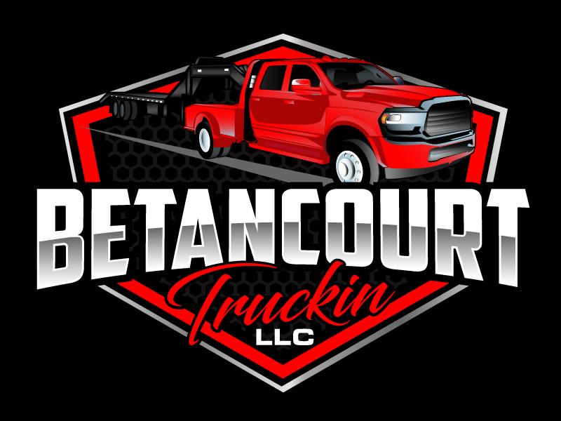 Betancourt Truckin LLC logo design by ElonStark