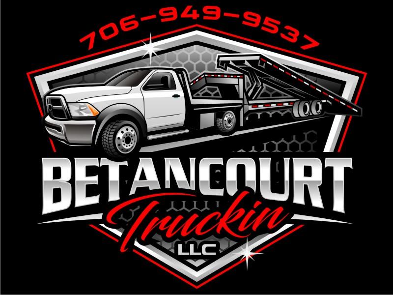 Betancourt Truckin LLC logo design by haze