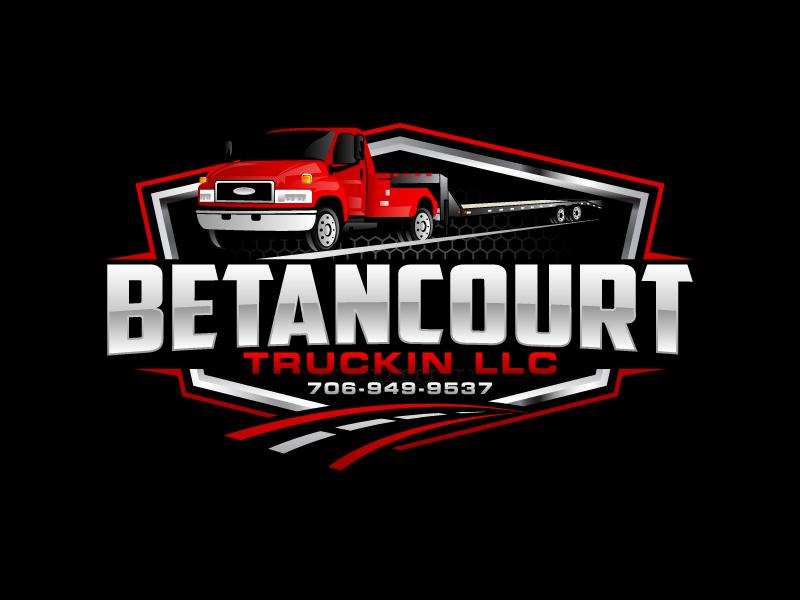 Betancourt Truckin LLC logo design by Kirito