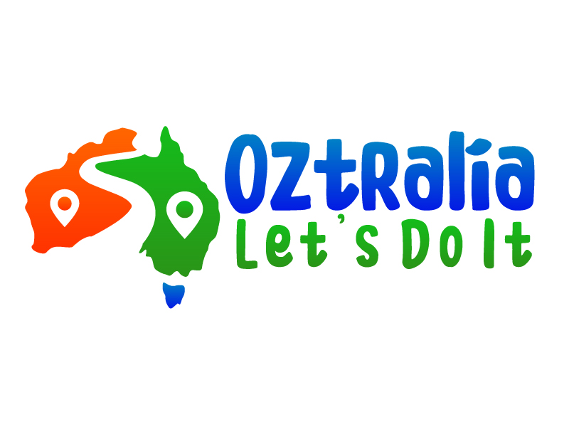 Oztralia Let's Do It logo design by ElonStark