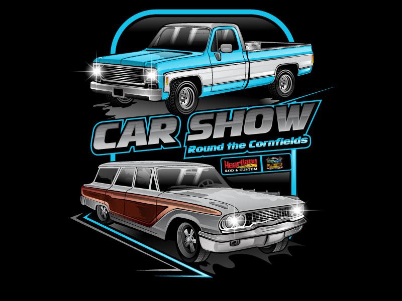 Car Show 'Round the Cornfields logo design by LogoQueen