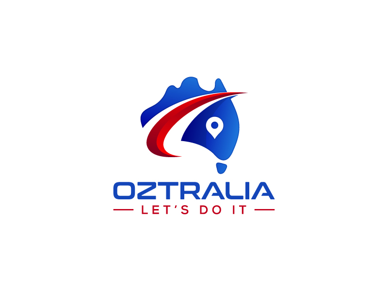 Oztralia Let's Do It logo design by pencilhand