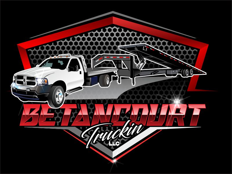 Betancourt Truckin LLC logo design by bosbejo