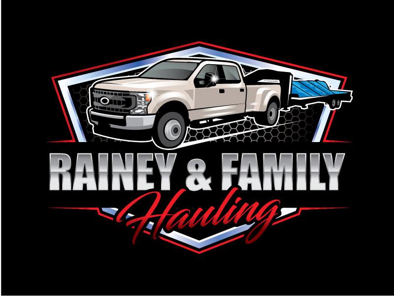 Rainey & Family Hauling logo design by Pompi Saha