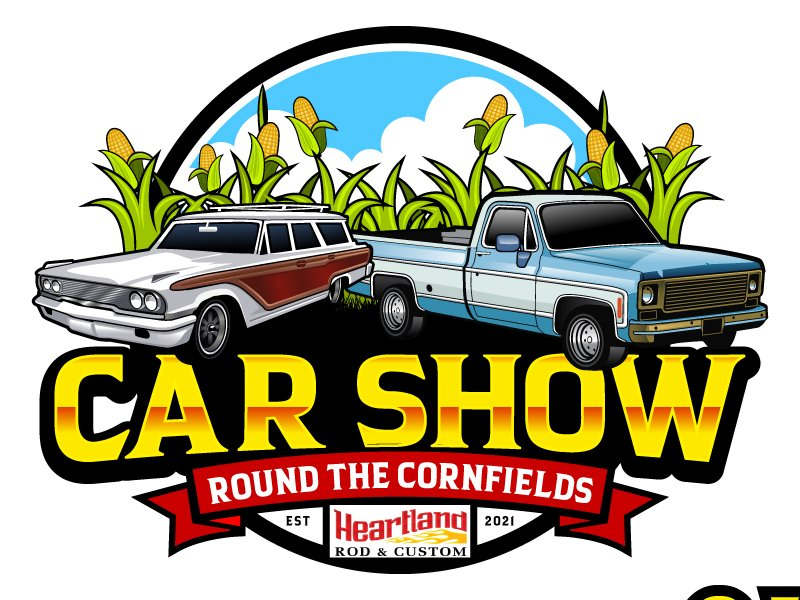 Car Show 'Round the Cornfields logo design by LucidSketch