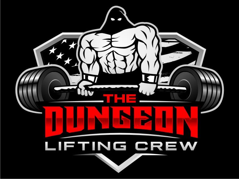 The Dungeon Powerlifting Logo Design