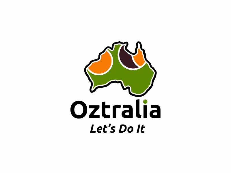 Oztralia Let's Do It logo design by ian69