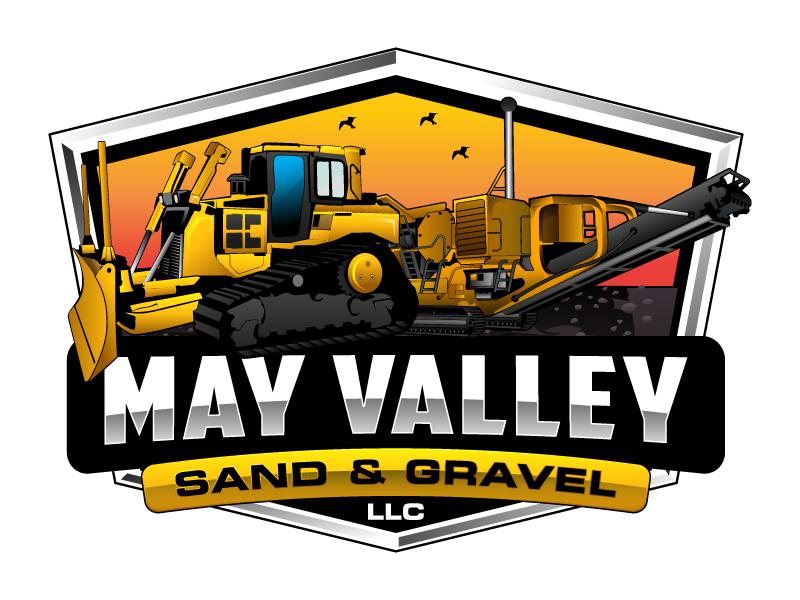 May Valley Sand & Gravel LLC logo design by Suvendu