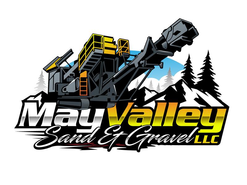 May Valley Sand & Gravel LLC logo design by DreamLogoDesign