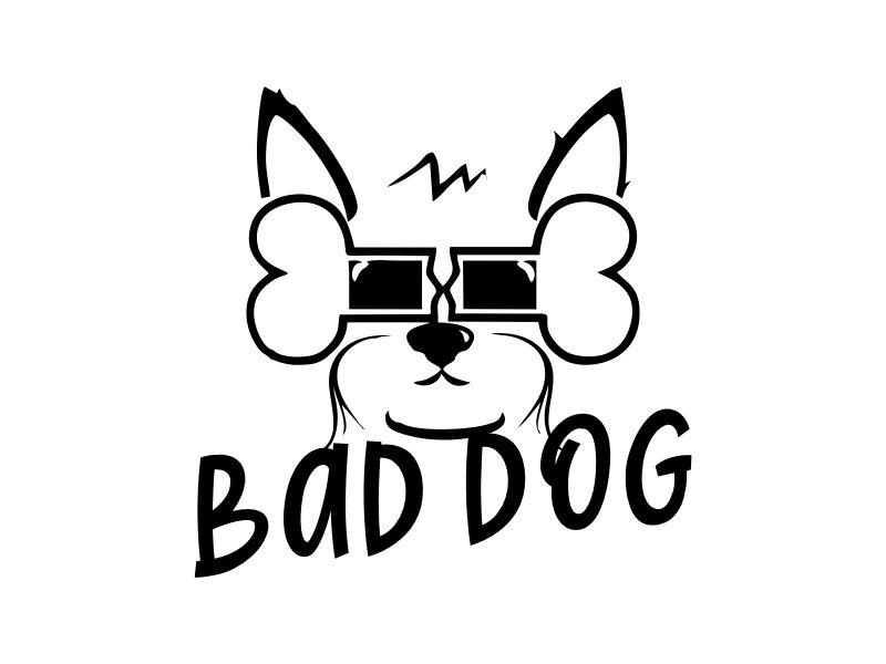 Bad Dog logo design by Gwerth