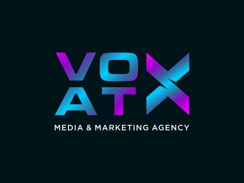 VOX ATX: Media & Marketing Agency logo design by nangrus