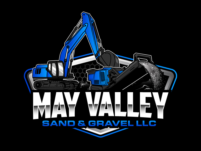 May Valley Sand & Gravel LLC logo design by daywalker