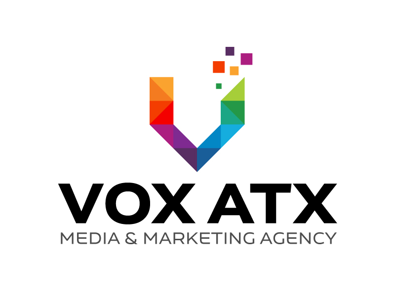 VOX ATX: Media & Marketing Agency logo design by karjen