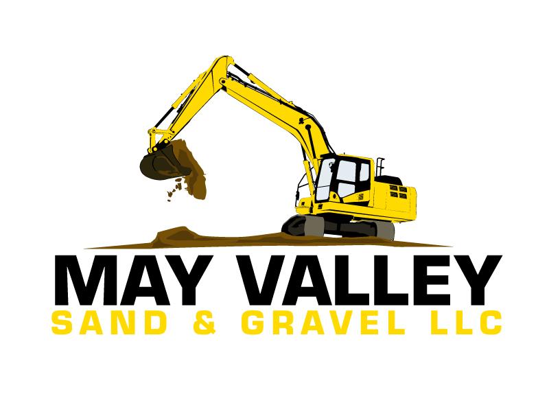 May Valley Sand & Gravel LLC logo design by ElonStark