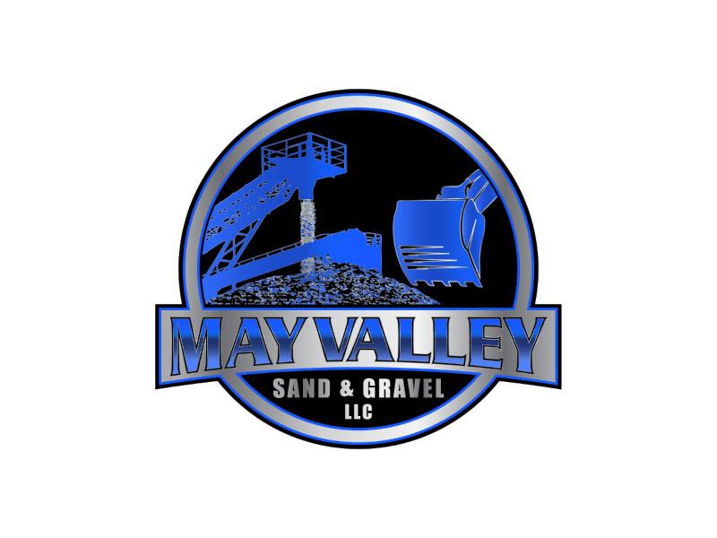 May Valley Sand & Gravel LLC logo design by nona