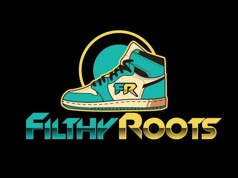 Filthy Roots logo design by ElonStark