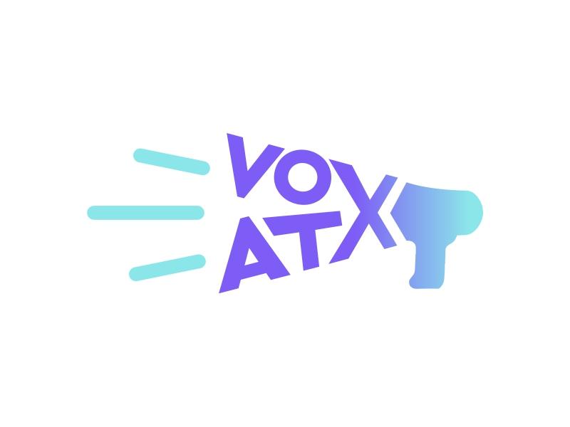 VOX ATX: Media & Marketing Agency logo design by up2date