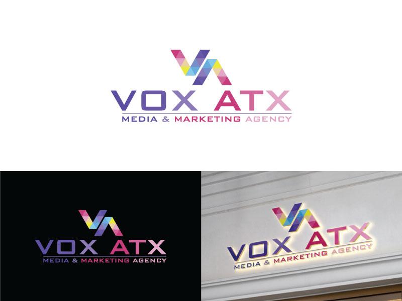 VOX ATX: Media & Marketing Agency logo design by Iqra Aesh