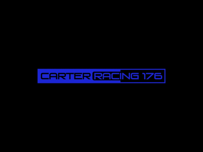 Carter Racing 176 logo design by stark