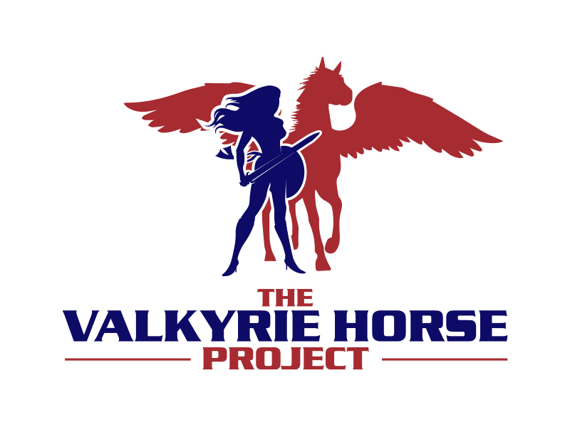 The Valkyrie Horse Project logo design by MarkindDesign™