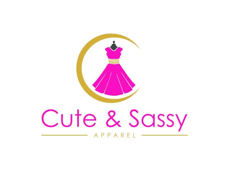 Cute & Sassy Apparel logo design by GassPoll