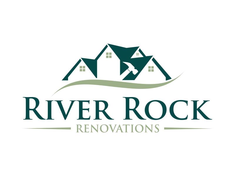 River Rock Renovations logo design by qqdesigns